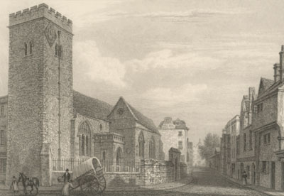 St Michael's Church in 1834