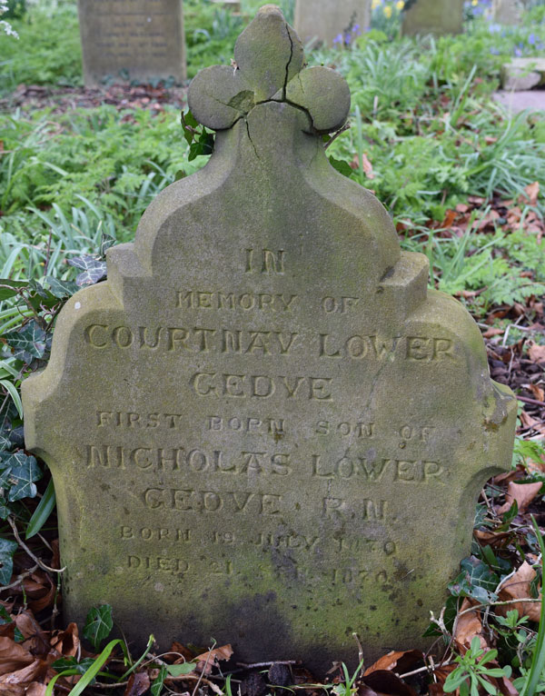 Courtnay Lower Gedye grave