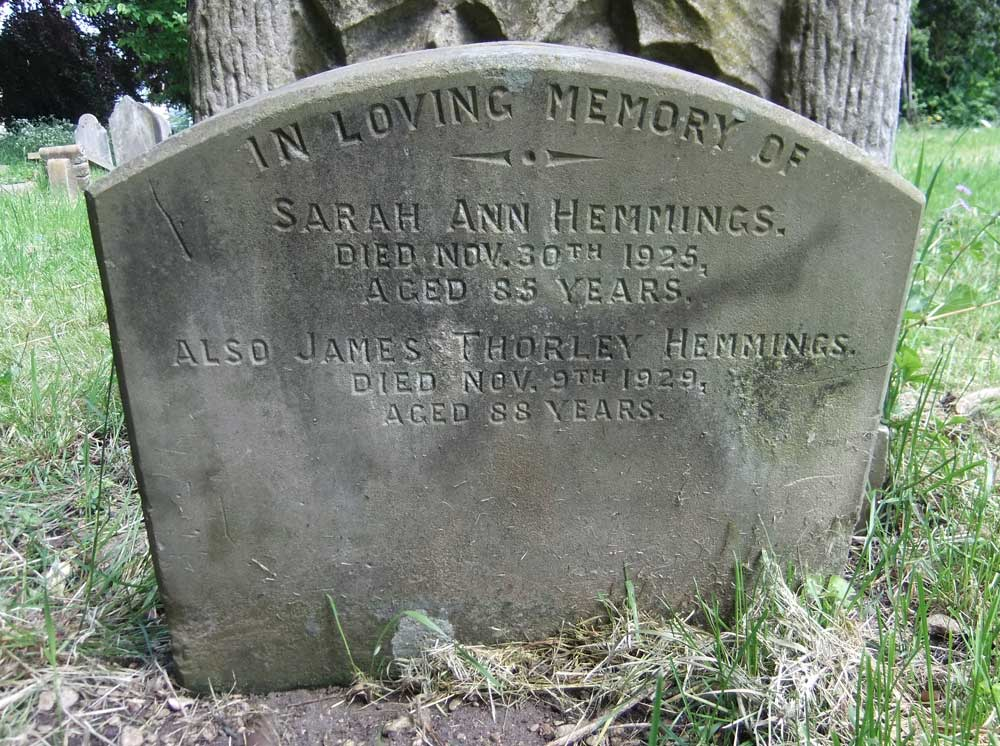 Hemmings grave