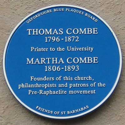 Combe blue plaque