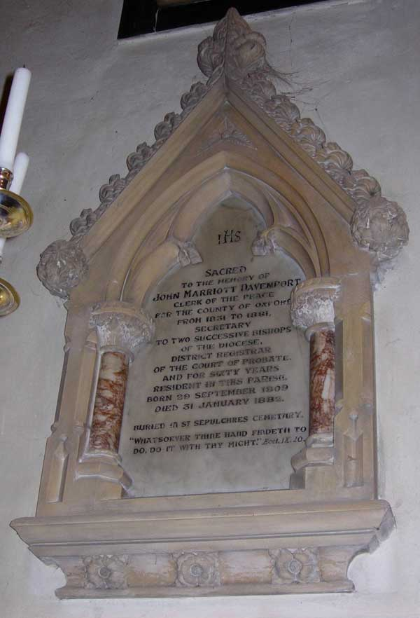 Memorial to John Davenport
